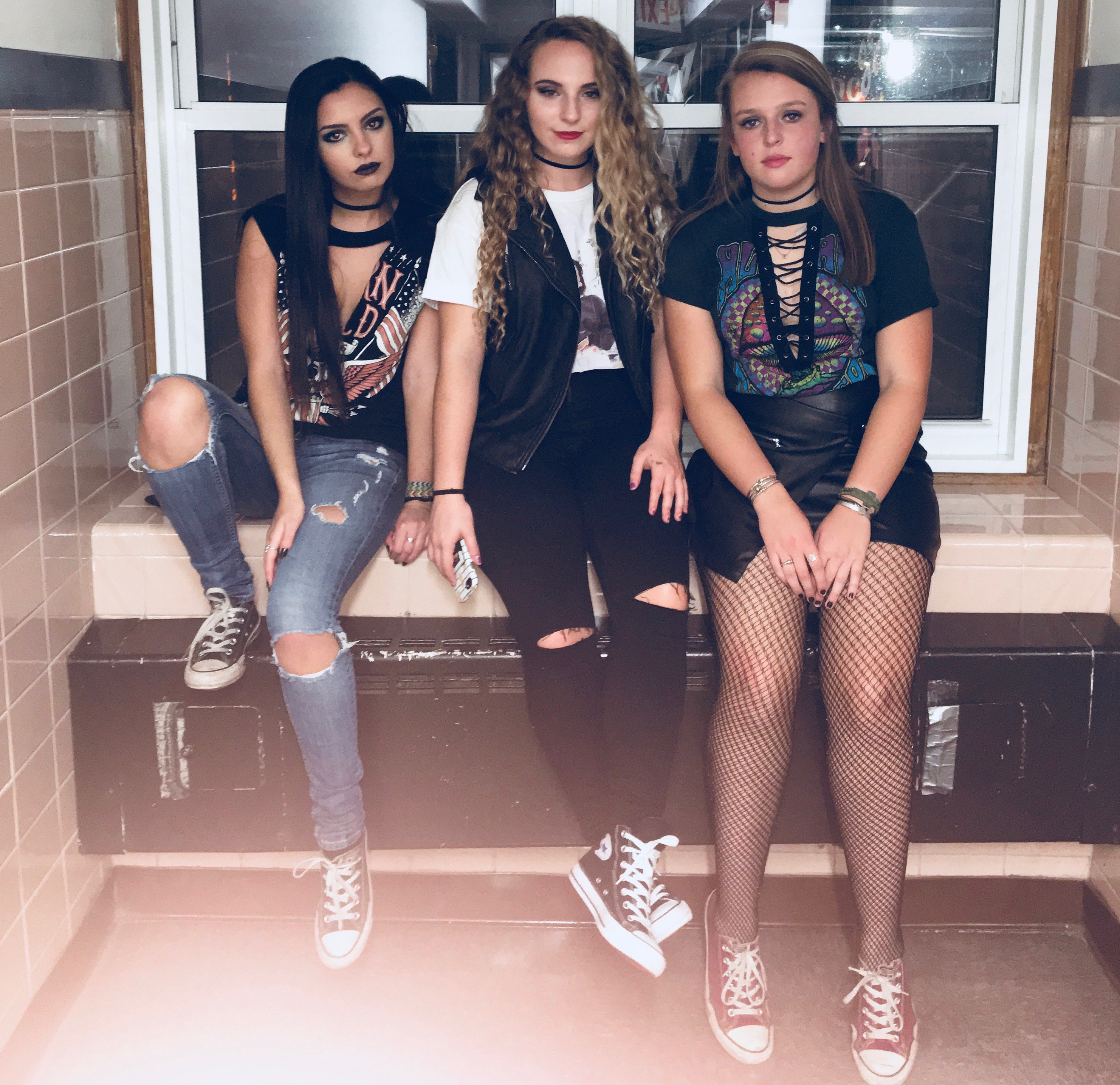All of our tops were from Forever 21 and they all were under $20. We each put a little bit of a separate twist on the u201cbikeru201d look depending on what we ...  sc 1 st  Cherry Backpack Diaries & Last Minute Halloween Costumes for a College Studentu0027s Budget ...